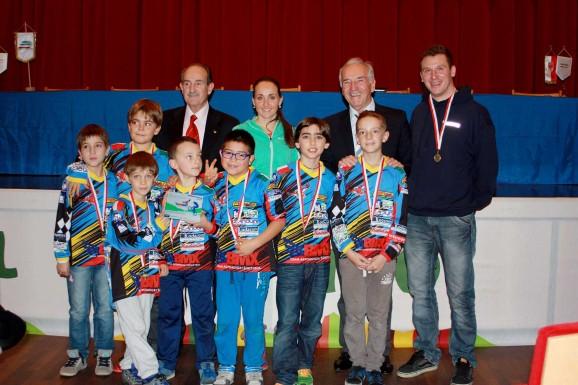 I Giovanissimi del team BMX AA Suedtirol premiati dalla FCI