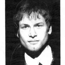 Alex Schwazer | disegno bianco e nero A4 2015 | Collezione Personalità dell'Alto Adige disegnate