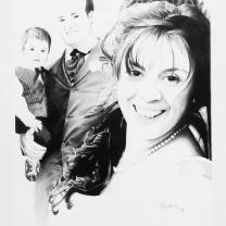 Fabio e Rosella | Disegno bianco e nero A3 2014 | Anniversario di matrimonio
